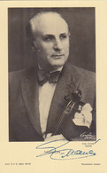 Juan Manen Violinist & Composer Hand Signed Postcard , Barcelona Spain 1939 - Cantanti E Musicisti