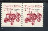 324336373 USA 1987 ** MNH  SCOTT 2127A  PAIR TRACTOR - Etats-Unis
