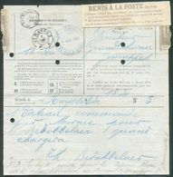 Télégramme En Réponse Payée Obl. Télégraphique De JEMAPPES ** à L'arr. 7/07/1902 + Rare Etiquette REMIS A LA POSTE (sans - Télégraphes