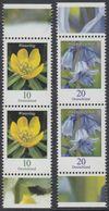 !a! GERMANY 2017 Mi. 3314-3315 MNH SET Of 2 Vert.PAIRS W/ Bottom & Top Margins - Flowers: Winter Aconite / Wood Hyacinth - [7] République Fédérale
