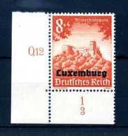 Z39043)Luxemburg 37 ER Mit Form-Nr. 3** - Besetzungen 1938-45