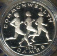 SAMOA $1 TALA EMBLEM FRONT RUNNERS COMMONWEALTH GAMES SPORT BACK 1978 SILVER PROOF KM30a READ DESCRIPTION CAREFULLY !!! - Samoa
