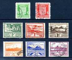 Z39784)Jersey 1-8 Gest. Kpl., Pracht - Besetzungen 1938-45