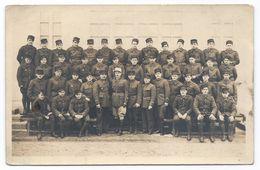 DA777 Carte Postale Photo Vintage Original RPPC Militaire Ecole 1939 Cadres - War, Military