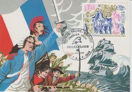 TAAF 1989 Carte Maximum Bicentenaire De La Révolution PA 107 - FDC