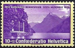 Switzerland 1938 - The Lake Of The Four Cantons ( Mi 326 - YT 311 ) MH* - Schweiz