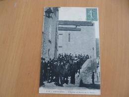 CPA 30 Gard Genholac L'église Et Sortie De La Messe TBE - Autres Communes