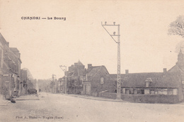 61. CHANDAI. CPA . LE BOURG VERSION PEU COURANTE. TEXTE ( Suite Carte L'eglise ) ANNEE 1926 - Frankrijk