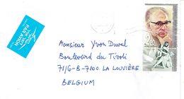 Lettre De Qiriat Haim, Israël Avec Timbre Avec Vignette Vers La Belgique (30/12/2006) - Israel