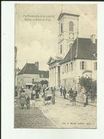21 - Cote D'Or - Pontailler Sur Saone - église Et Hotel De Ville - - France