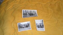 LOT DE 3 PHOTOS ANCIENNES DATE ?. / VOITURE A IDENTIFIER. / PERSONNES ANONYMES.. - Cars