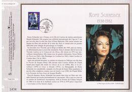 FEUILLET CEF TIRAGE LIMITE, ROMY SCHNEIDER (1938-1982), 1998 - Acteurs