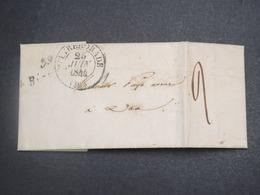 FRANCE - Lettre Avec Cursive En 1844 Pour Dax - L 15056 - Marcophilie (Lettres)