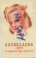Brussel :  Eeckelaers ---  ZEPEN - SAVON 1850 ( 2 Scans -  Format 9 X 5.5 Cm ) - Parfums & Beauté