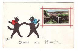 15 Mauriac Cpa Fantaisie Illustration Illustrateur René Chat Chats Amitiés De Mauriac - Mauriac