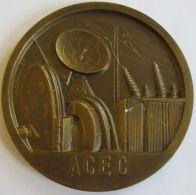 M05313  ATELIERS De CONSTRUCTION ELECTRIQUES De CHARLEROI ACEC - 1881-1904-1954 (210 G) Bobines Au Revers - Professionnels / De Société
