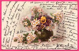 Vase De Fleurs - Pensées - Cerisiers - 1903 - Blumen