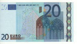 """20 EURO  """"M""""  Portugal   Firma Trichet    U 009 D5    /  FDS  - UNC - EURO"""