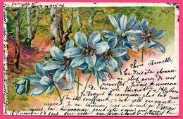 Cpa Gaufrée - Embossed - Relief - Fleurs - Violettes - 1904 - Oblit. Surcharge LILLE GARE - K.V.I.B. 12. SERIE 425 - Blumen