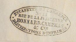 LETTRE IMPRIMEE ACHEMINEE Par ESTAFETTE Du COMMERCE PRIVEE De PARIS - 1849-1876: Periodo Classico