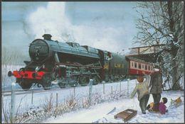 Winter Spotters, Trainspotters, LMS No 5407 - Alternative Card Co Postcard - Trains
