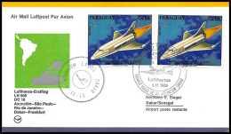 7704/ Espace (space Raumfahrt) Lettre (cover Briefe) 4/5/1975 Lufthansa Asuncion Palo Rio Frankfurt Paraguay - Lettres & Documents