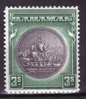 Bahamas 1931 George V 3/- Slate Purple And Myrtle Green  Mounted Mint Stamp. - Bahamas (...-1973)