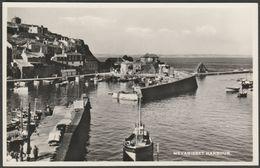 Mevagissey Harbour, Cornwall, C.1950s - D E M Thomas RP Postcard - England
