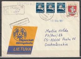 Lithuania R. Cover To Czechoslovakia 1997 - Lithuania
