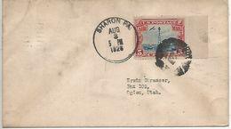 USA Enveloppe SHARON Fancy Cancel Equerre, Compas, Lettre G  - Franc-maçonnerie 1928 - Freimaurerei