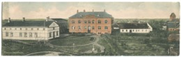 HASLEV HØJSKOLE Unusual Double Size Coloured Postcard  Without Address Lines Ca. 1905 - Dänemark