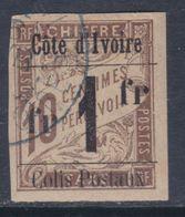 Cote D'Ivoire CP N° 8 O Colis Postaux N° 8 : 1 F. Sur 10 C. Brun  Faible Obltération Sinon TB - Ivoorkust (1892-1944)