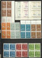 1966 EUROPA CEPT EUROPE  ANNATA IN QUARTINA  YEAR 16 Paesi MNH** Bl.4 - Europa-CEPT