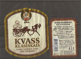 "Drink Kvass ""Klasiskais""(""Classic"") Labels - Labels"
