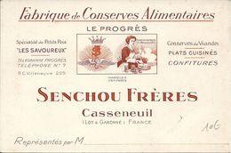 CONSERVES ALIMENTAIRES SENCHOU FRERES A CASSENEUIL (47) - Publicité