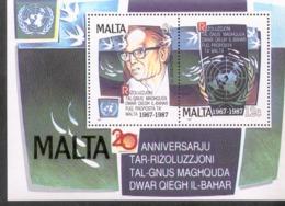 Malta Block 10 Meeresboden - Vertrag ** MNH Postfrisch Neuf - Malta