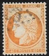 N° 38  FRANCE OBLITERES - Céres 40c Orange  1870 - 1870 Assedio Di Parigi