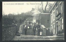 """+++ CPA - VAUX SOUS CHEVREMONT - Vue """"Pied Du Calvaire"""" - Café Restaurant - Carte Animée    // - Chaudfontaine"""