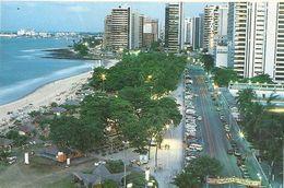 "CPM. FORTALEZA - AV. BEIRA MARE  . AFFR AU VERSO TIMBRE "" NATAL Noel "" DU 28 MARS 1995 . 2 SCANES - Fortaleza"