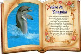 Cpm PRIERE DU DAUPHIN - Livre Ouvert, Découpée Dans La Forme Du Livre - Ed PEC N° CA 159 - Dauphins