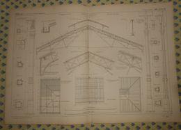 Plan Du Marché De Grenelle. 1869 - Public Works