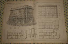 Plan D'une Reprise En Sous Oeuvre D'une Maison Située Boulevard Ornano à Paris. 1869 - Public Works