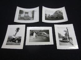 Lot De Photos, Renault 4 Cv, Années 1950, France. - Cars