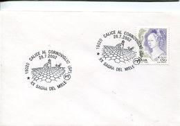 31974 Italia, Special Postmark 2002 Calice,  Honig, Honey, Miel - Abeilles
