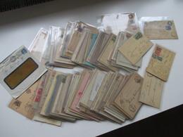 Ganzsachen Gebraucht! Ca. 190 Stk. Ab 1872 Bis 1920er Jahre! Europa - Alle Welt / Übersee. Auch Zusatzfrankaturen! - Briefmarken