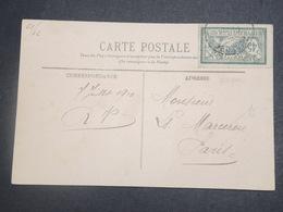 FRANCE - Type Merson Perforé CN Sur Carte Postale De Marseille En 1910 - L 15072 - Perforés
