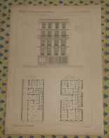 Plan D'un Type De Maison à Loyers,104,  Avenue D'Eylau à Paris. 1869 - Travaux Publics