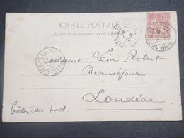 FRANCE - Type Mouchon Perforé Sur Carte Postale De Costumes  Normands En 1902 - L 15073 - Perforés