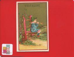 NEUILLY ST JAMES VESTALINE PATE DENTAIRE DENT Jolie Chromo Or Enfant Flute - Chromos