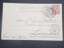 FRANCE - Type Mouchon Perforé Sur Carte Postale De Costumes  Normands En 1902 - L 15074 - Perforés